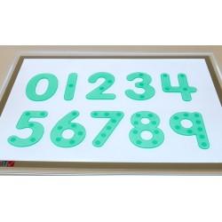 Números silicona verdes