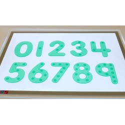 Silishapes dot numbers Green