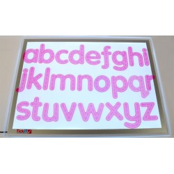 Silishapes trace alphabet pink