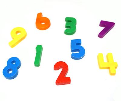 Piezas de números
